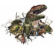 3D Jurassic Period Dinosaur Broken Wall Design 3D Wall Stickers PVC Fashion Living Room Wall Decals