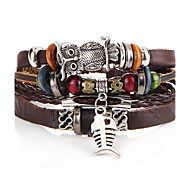 cheap -Beads Leather Bracelet - Anchor Vintage, Fashion Bracelet Coffee For Christmas Gifts / Gift / Daily
