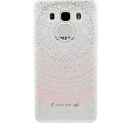 Pink Lace Pattern TPU High Purity Translucent Openwork Soft Phone Case for Samsung Galaxy J310 J510 J710 G530 G360