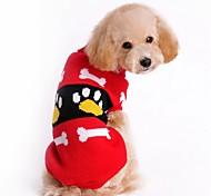 Недорогие -Кошка Собака Свитера Рождество Одежда для собак Контрастных цветов Красный Розовый Акриловые волокна Костюм Для домашних животных Муж.