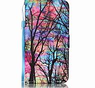 Недорогие -Кейс для Назначение SSamsung Galaxy J7 (2016) J5 (2016) Кошелек Бумажник для карт Чехол дерево Твердый Искусственная кожа для J7 (2016)