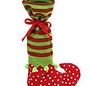 1шт рождественские Эльф ботинка носок конфеты мешок Санта-Клауса конфеты подарок мешок рождественские принадлежности