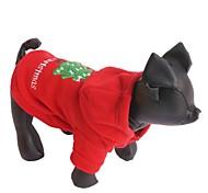 Недорогие -Кошка Собака Толстовки Одежда для собак Однотонный Красный Флис Костюм Для домашних животных Муж. Жен. Новый год Рождество
