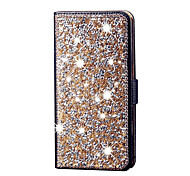 For Samsung Galaxy J5 Diamond Flip Leather Case Cover Stand Card Slot Shiny Case