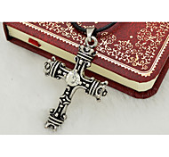Men's Cross Titanium Steel Religious Fashion Personalized Jewelry For Daily Casual