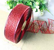 2pcs случайные цвета рождественские украшения для домашнего диаметра партии 3.5 * 200см Navidad новый год поставок шелковой лентой