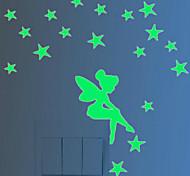 Недорогие -Люди Рождество Мультипликация Наклейки 3D наклейки Светящиеся наклейки Декоративные наклейки на стены Наклейки для выключателя света