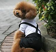 Недорогие -Собака Костюмы смокинг Одежда для собак Контрастных цветов Черный/Белый Терилен Костюм Для домашних животных Муж. Косплей Свадьба