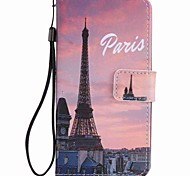 For LG K10 K7 Case Cover Eiffel Tower Painted Lanyard PU Phone Case for NEXUS 5X Lss775 Xpower