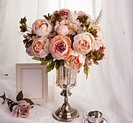 1 Bouquet Artificial Peony Peonies Flowers 8 Heads Silk Flower Wedding Home Party Decor European Style Large