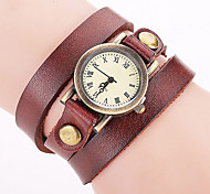 cheap -Women's Wrist watch Bracelet Watch Fashion Watch Quartz Colorful Punk Leather Band Charm Vintage Casual Bohemian Cool Bangle Black White