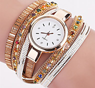 Женские Модные часы Наручные часы Часы-браслет Цветной Кварцевый PU ГруппаВинтаж Блестящие Богемные С подвесками Кольцеобразный Cool