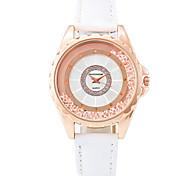 Xu™ Mulheres Relógio de Moda Relógios Femininos com Cristais Bracele Relógio Quartzo PU Banda Vintage Casual Preta Branco Vermelho Marrom