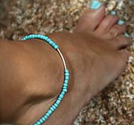 Недорогие -Ножной браслет - Простой стиль Черный / Синий Назначение Свадьба / Для вечеринок / Повседневные / Жен.