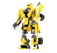 Недорогие -Робот Игрушечные машинки Фигурки героев и мягкие игрушки Конструкторы Игрушки Воин Автомобиль Машина Робот трансформируемый Мальчики