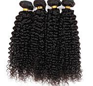 Tejidos Humanos Cabello Cabello Brasileño Rizado rizado 12 meses 3 Piezas los tejidos de pelo