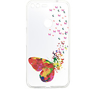 cheap -Case For Google Pattern Back Cover Butterfly Soft TPU for Google Pixel XL Google Pixel