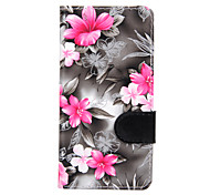 cheap -For Sony Xperia Z3 Mini Z3 Flowers PU Leather Case for Sony Xperia M2 Sony Xperia M4 Sony Xperia E4