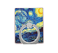 cheap -Oil Painting  Pattern Plastic  Ring Holder / 360 Rotating for Mobile Phone iPhone 8 7 Samsung Galaxy S8 S7