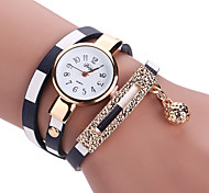 cheap -Women's Quartz Wrist Watch Bracelet Watch Colorful PU Band Charm Vintage Casual Bohemian Fashion Bangle Black Blue Red Brown Pink
