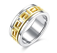 Ring Engagement Ring Stainless Steel Gold Plated Classic Fashion Golden Jewelry Wedding Party Daily Casual Sports 1pc