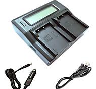 ismartdigi BLS5 LCD Dual зарядное устройство с кабелем для зарядки в автомобиле для Olympus E-PL2 PL3 pl5 PL6 PL7 EP3 EM10 е-PM1 PM2 pm3