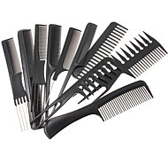 1 Set(Contain10 pcs) Black Professional Combs Hairdressing Salon Styling Barbers Set 15cm - 23cmNew Style
