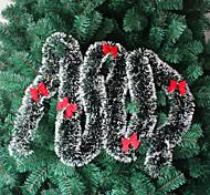 ornement arbre 10pcs noël décorations de noël vert blanc clinquant noël Noël tops garance (style aléatoire)