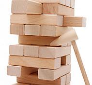 Juegos de Construcción Bloque de madera Juegos de Mesa de Puzzle Torre de apilamiento Juguetes Madera Clásico Piezas Regalo
