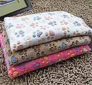 Недорогие -Кошка Собака Полотенца Чистка Животные Одеяла Footprint / Paw Складной Двусторонний Бежевый Кофейный Розовый Розовый Для домашних животных