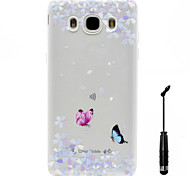 For Samsung Galaxy J3 (2016) G530 G360 J5(2016 J7(2016) Case Cover  Butterfly Pattern  Soft Painting TPU Material Phone CaseTouch Screen Pen