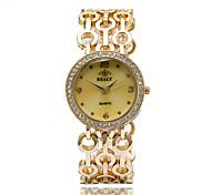 Женские Модные часы Наручные часы Кварцевый / сплав Группа Cool Повседневная Элегантные часы Серебристый металл Золотистый Розовое золото