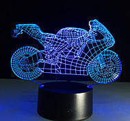 tabela 3d lampmotorcyclenightlightsled decorativo plexiglas lâmparas placa lumineuse cabeceira colores nightlight bulbificação lampy
