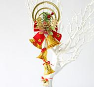 1pcs цвет случайный рождественские украшения подарки роль ofing елочные украшения Рождественский подарок повесить actthe роль колокол