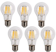 E26/E27 LED Filament Bulbs A60(A19) 6 leds COB Decorative Warm White Cold White 600lm 2700/6500K AC 220-240V