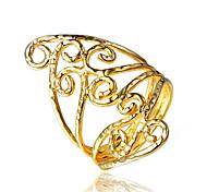 Damen Ring Modeschmuck vergoldet 18K Gold Schmuck Für Hochzeit Party Alltag Normal