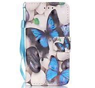 Blue Butterfly 3D Painting PU Phone Case for apple iTouch 5 6