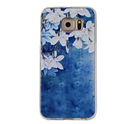 For Samsung Galaxy S7Edge S7 S6Edge S6 S5 S4 Case Cover Small White Flowers Painted Pattern TPU Material Phone Case