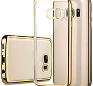cheap -for Samsung Galaxy S7 edge case plating Classic Luxury Mobile Phone TPU Soft Shell Plating Galaxy S7 S6 S6 edge