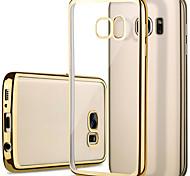 Недорогие -Для Samsung Galaxy S7 Edge Покрытие / Прозрачный Кейс для Задняя крышка Кейс для Один цвет TPU Samsung S7 edge / S7 / S6 edge / S6