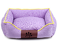 Dog Bed Pet Mats & Pads Soft Cute Casual/Daily Fuchsia Coffee Red Green Blue For Pets