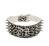cheap -Dog Collar Adjustable / Retractable Studded Rock Music PU Leather White Black Red Pink Leopard