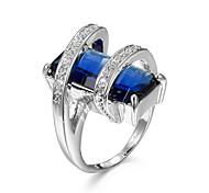 Women's Couple Rings Ring Statement Rings AAA Cubic Zirconia Love Costume Jewelry Fashion Luxury Personalized Zircon Cubic Zirconia