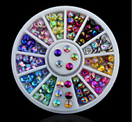 A Box Of Color Nail Drill Spire Acrylic 12 Color Nail Hole Plate Disc