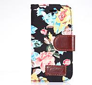 Pour samsung galaxy alpha ace style lt housse couverture fleurs pu cuir étui téléphone portable