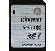 Недорогие -Kingston 64 Гб SD-карта карта памяти UHS-I U1 Class10