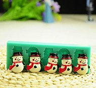Christmas Snowman with Scarf Fondant Cake Chocolate Silicone Mold Cake Decoration Tools,L12*W4*H1.3cm