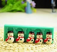 baratos -natal boneco de neve com cachecol ferramentas fondant bolo de chocolate bolo de silicone molde de decoração, l12 * W4 * h1.3cm