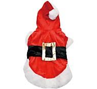 Недорогие -Собака Плащи Толстовки Одежда для собак Милые Мода Сохраняет тепло Рождество Персонажи Красный