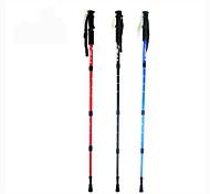 Aluminum Alloy 6061 110cm (43 Inches)Mountaineering Sticks Trekking Poles Multifunction Walking Sticks Alpenstock